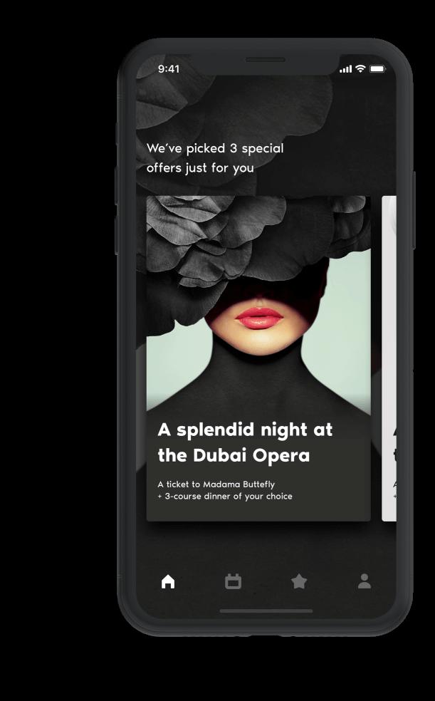 Dubai Opera App Design