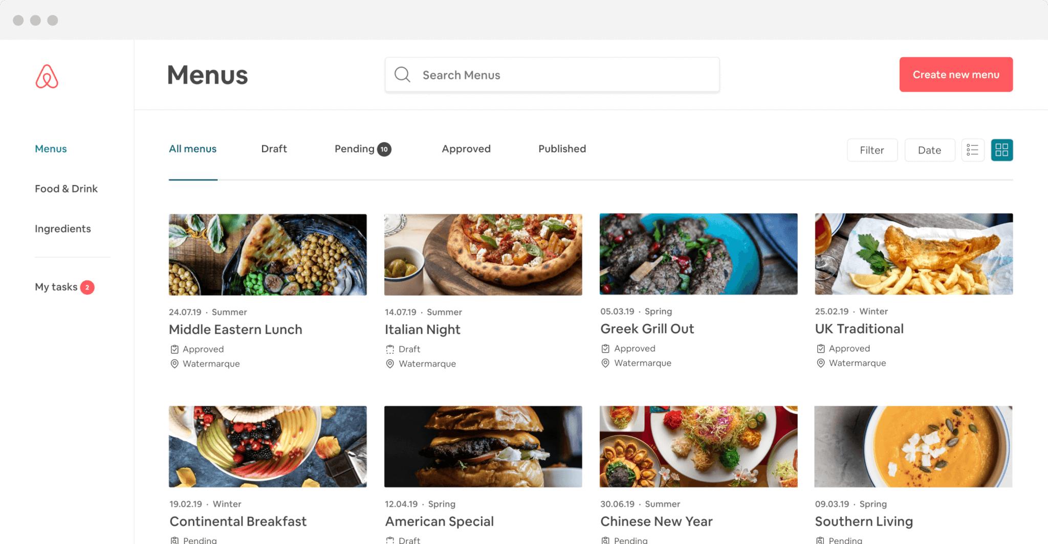 Airbnb Food preview on desktop screen
