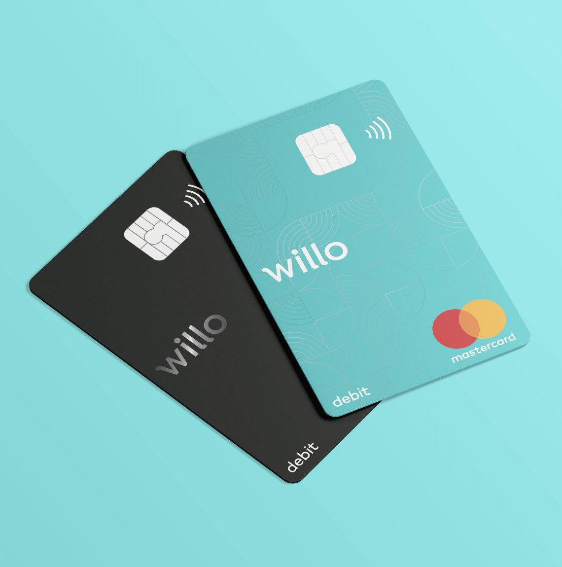 Two Willo debit cards